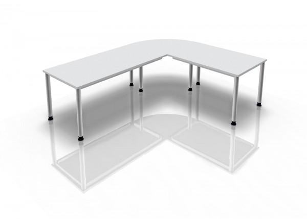 2-er Set Tischbeine zurückgesetzt, Serie H - Aufpreis