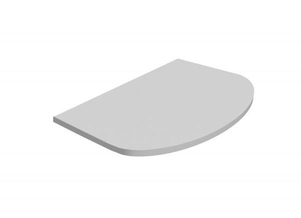 Ablageplatte im Schrank, Silber