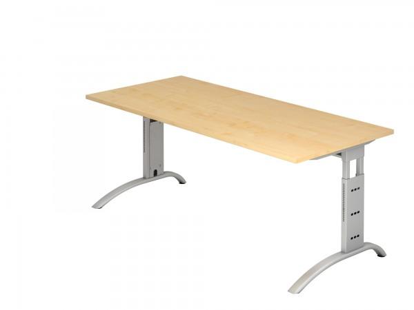 180x80cm, rechteckig, Schreibtisch FS19, C- Fuß, von Hammerbacher