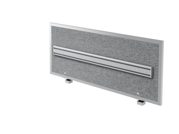 Akustik-Trennwand ATO12 120cm, mit Orga- Schiene und Alu-Rahmen