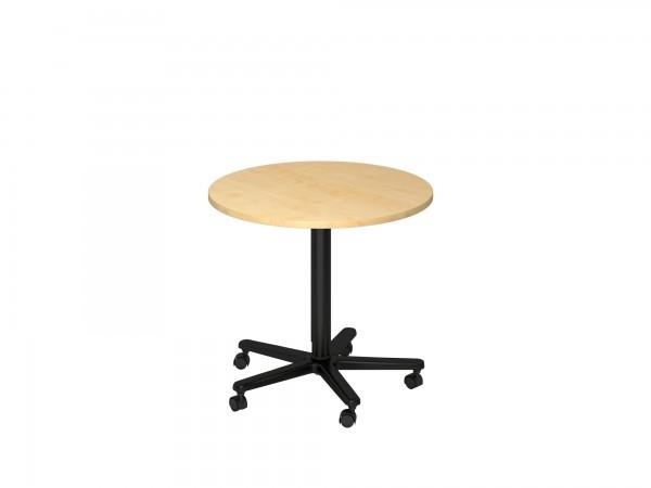 80cm, Säulenhubtisch ST08, runde Tischplatte