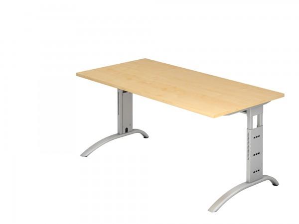 160x80cm, rechteckig, Schreibtisch FS16, C- Fuß, von Hammerbacher
