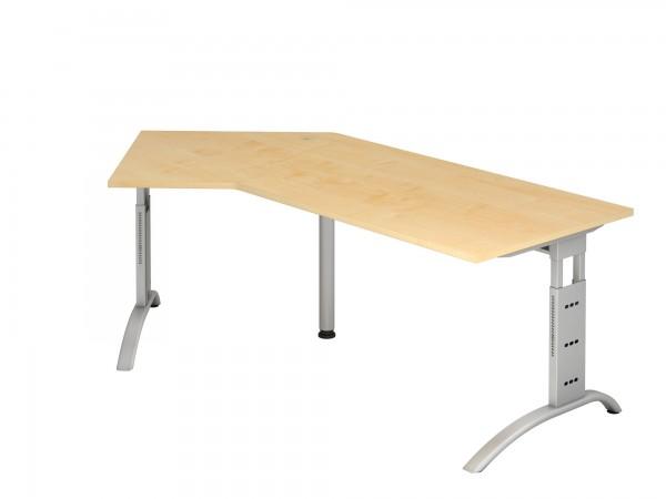 210x113cm, 135°- Form, Schreibtisch FS21, C- Fuß, von Hammerbacher