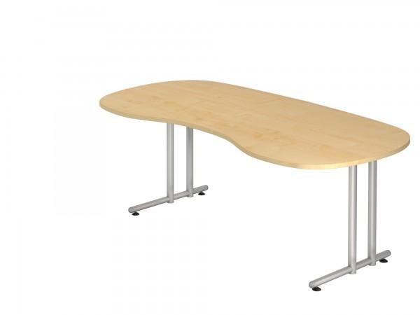 200x100cm, Nierenform, Schreibtisch NS20, C- Fuß, von Hammerbacher