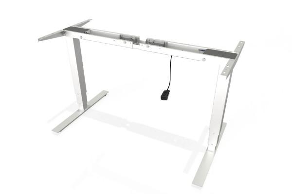 S² Steh-Sitz-Schreibtisch Gestell mit 660mm Hub mit Handschalter auf/ab in weiß