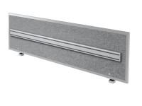 Akustik-Trennwand ATO18 180cm, mit Orga- Schiene und Alu-Rahmen