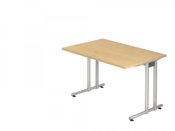 120x80cm, rechteckig, Schreibtisch NS12, C- Fuß, von Hammerbacher
