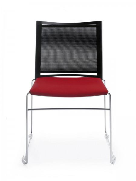 Sitz gepolstert, Netzrücken, Kufengestell, Konferenzstuhl Ariz von Profim