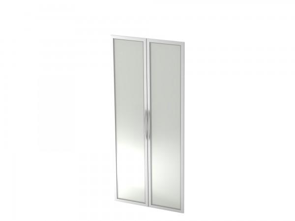 Basic Glastüren 5OH, Silberrahmen