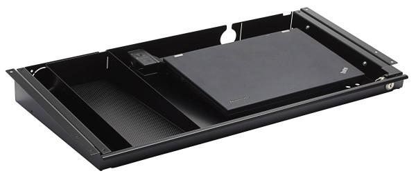 Laptop-Schublade 2014 mit Schloss, inkl. Softclose und Stiftablage