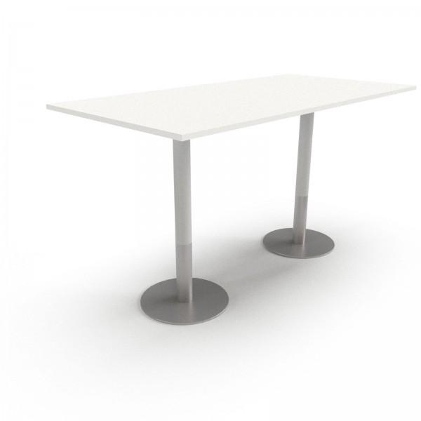 Konferenztisch PLUS: Säulenfuß, Rechteckform, Tischplatte Einzelvariante, 110cm Höhe