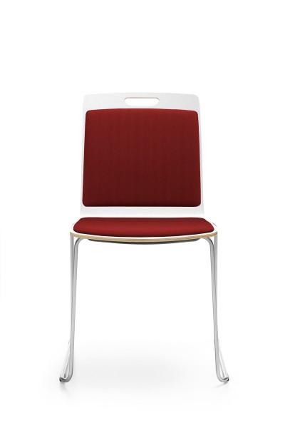 Kufengestell, Rücken und Sitz gepolstert, Konferenzstuhl Com von Profim