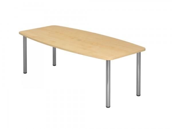 220x105cm, Tonnenform, 4 Chromfüße, Konferenztisch KT22C von Hammerbacher