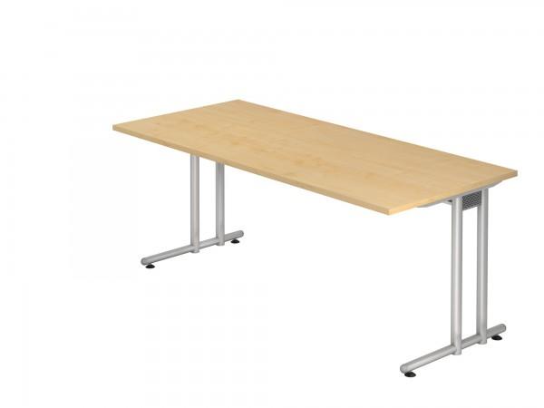 180x80cm, rechteckig, Schreibtisch NS19, C- Fuß, von Hammerbacher