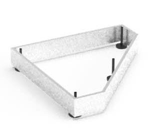 Balma J-System Metallbodensockel für Eckschränke 71x71cm