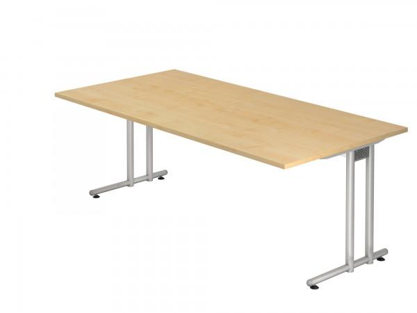 200x100cm, rechteckig, Schreibtisch NS2E, C- Fuß, von Hammerbacher