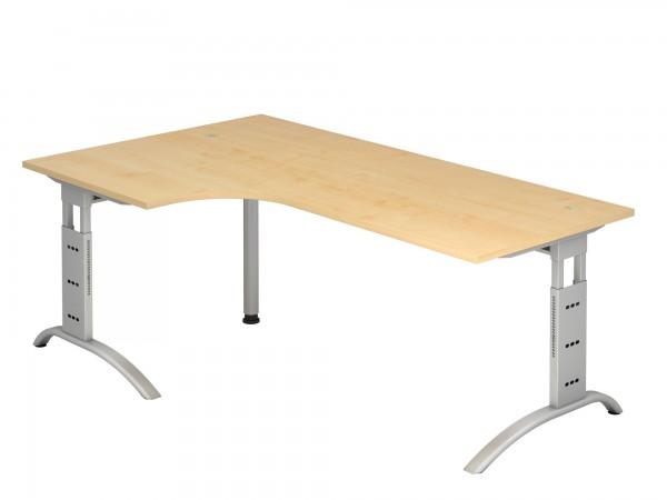 200x120cm, 90°- Form, Schreibtisch FS82, C- Fuß, von Hammerbacher
