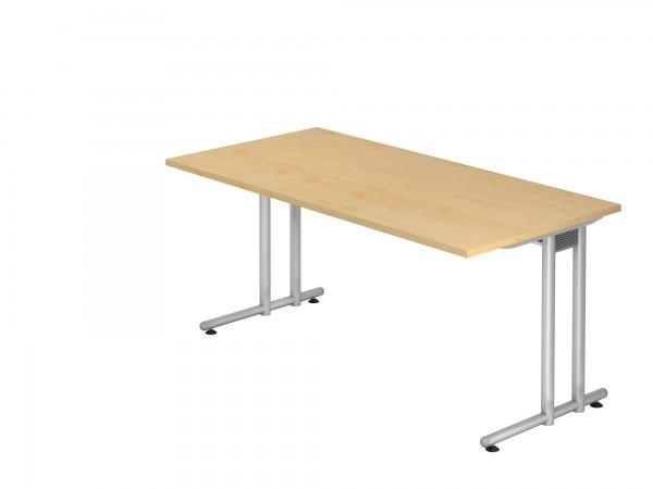 160x80cm, rechteckig, Schreibtisch NS16, C- Fuß, von Hammerbacher