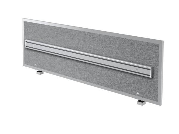 Akustik-Trennwand ATO16 160cm, mit Orga- Schiene und Alu-Rahmen