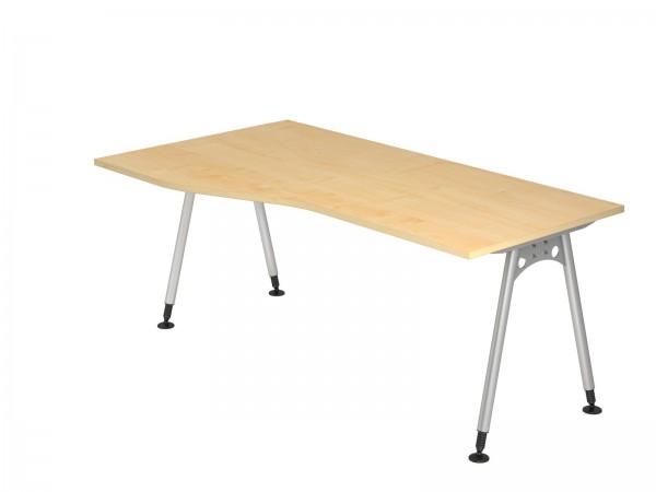 180x100/80cm, Freiform, Schreibtisch AS18 von Hammerbacher