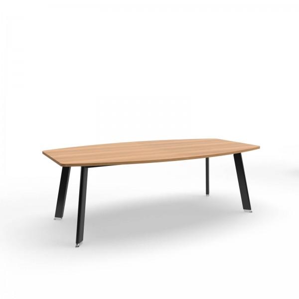 220x120x74cm (BxTxH), Balma Konferenztisch Simplic, tonnenförmig