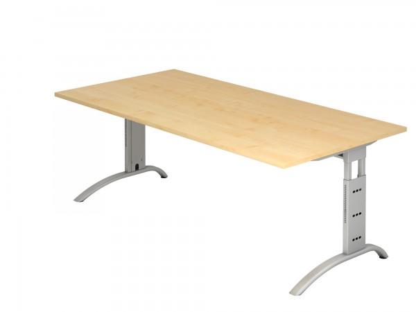200x100cm, rechteckig, Schreibtisch FS2E, C- Fuß, von Hammerbacher