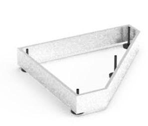 Balma J-System Metallsockel für Eckregale links 41x38cm