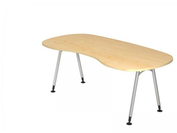 200x100cm, Nierenform, Schreibtisch AS20 von Hammerbacher