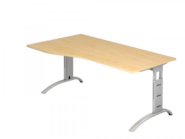 180x100/80cm, Freiform, Schreibtisch FS18, C- Fuß, von Hammerbacher