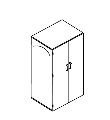 Balma J-System Garderobenschrank 100cm, extra tief