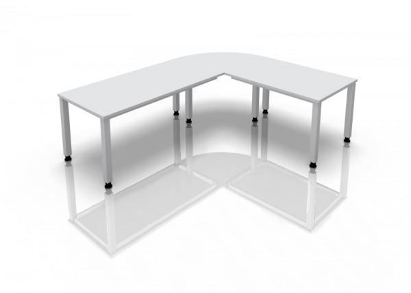 2-er Set Tischbeine zurückgesetzt, Serie Q - Aufpreis