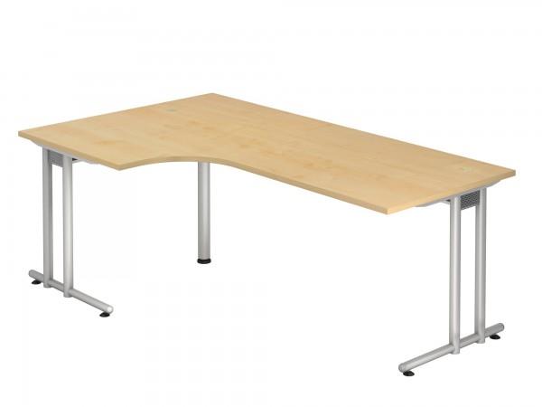 200x120cm, 90°- Form, Schreibtisch NS82, C- Fuß, von Hammerbacher