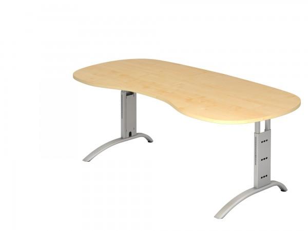 200x100cm, Nierenform, Schreibtisch FS20, C- Fuß, von Hammerbacher