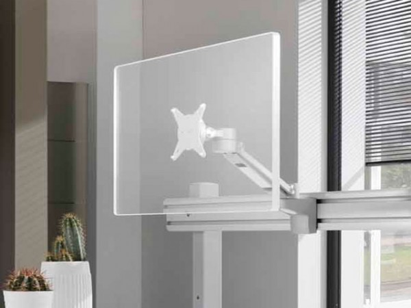 Bildschirmhalter flexibel, silber