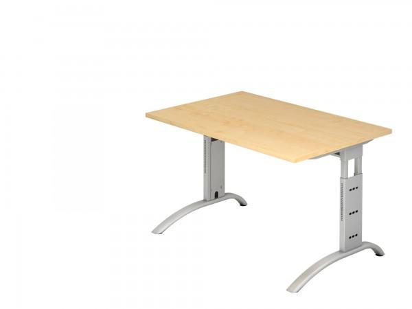 120x80cm, rechteckig, Schreibtisch FS12, C- Fuß, von Hammerbacher