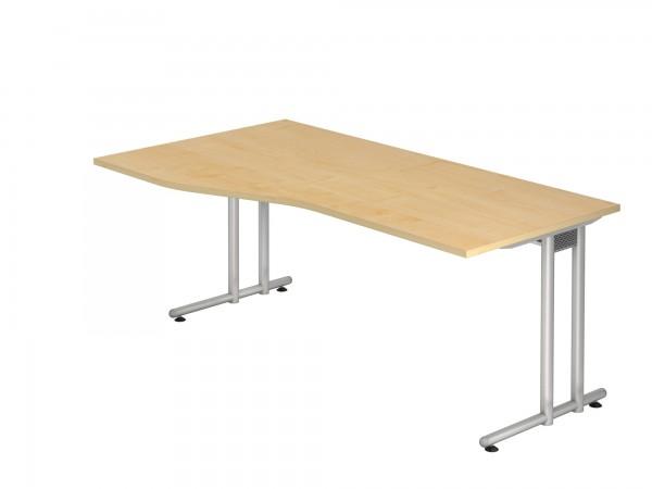 180x100/80cm, Freiform, Schreibtisch NS18, C- Fuß, von Hammerbacher