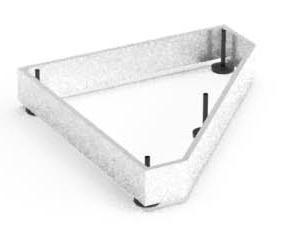 Balma J-System Metallsockel für Eckregale Mitte 41x38cm