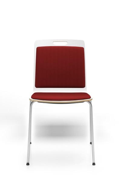 4- Fuß Gestell, Rücken und Sitz gepolstert, Konferenzstuhl Com von Profim
