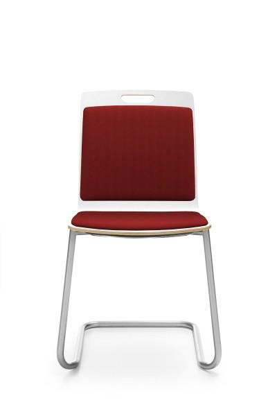 Freischwinger, Rücken und Sitz gepolstert, Konferenzstuhl Com von Profim