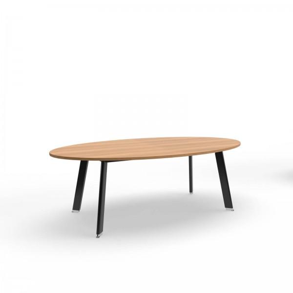 220x120x74cm (BxTxH), Balma Konferenztisch Simplic, oval