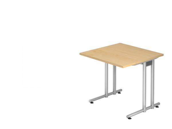 80x80cm, rechteckig, Schreibtisch NS08, C- Fuß, von Hammerbacher
