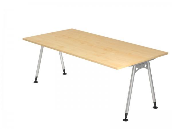 200x100cm, rechteckig, Schreibtisch AS2E von Hammerbacher