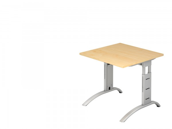 80x80cm, rechteckig, Schreibtisch FS08, C- Fuß, von Hammerbacher