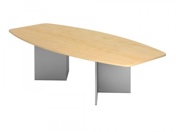 280x130cm, Tonnenform, Holzgestell, Konferenztisch KT28H von Hammerbacher
