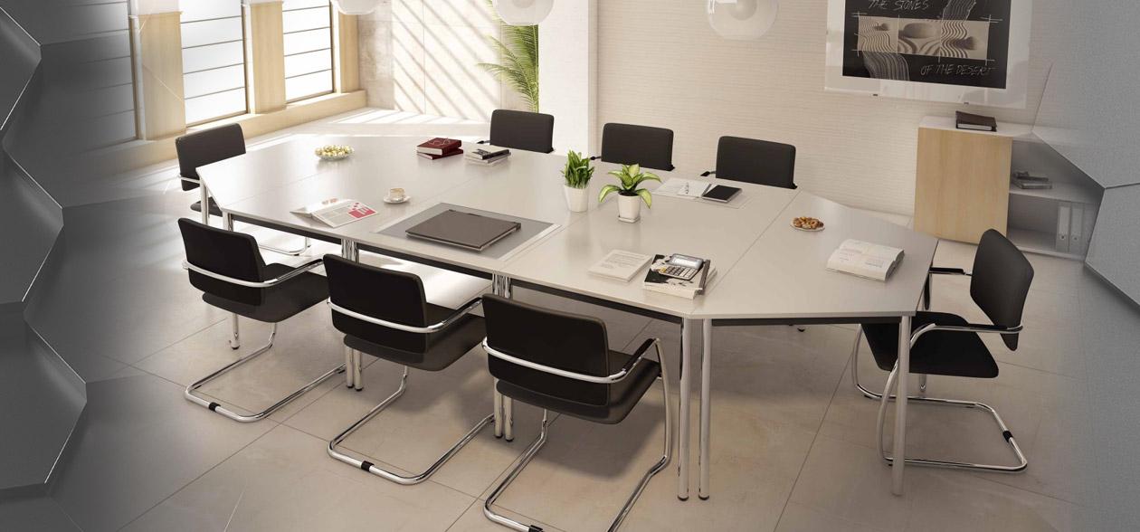 140x70cm Trapeztisch Schreibtisch Bürotisch Arbeitstisch Besprechungstisch